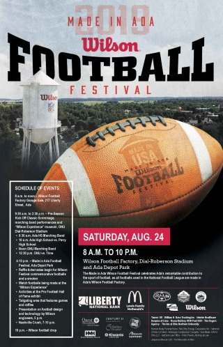 2019 Made in Ada Wilson Football Festival Poster